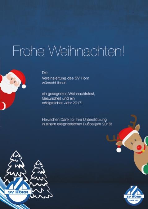 Animation Frohe Weihnachten.Frohe Weihnachten Sv Horn