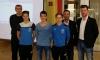 Die Spieler des Jahres: Patrick Lucic (3.Platz), Leomend Krasniqi (1.Platz) und Manuel Kegler (2. Platz). Dahinter Walter Kral, Patrik Schuch und Marc-Kevin Prisching.